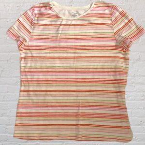 Croft&barrow size Medium colorful striped t-shirt